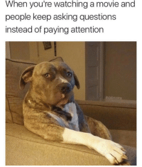 Ask Question: When you're watching a movie and  people keep asking questions  instead of paying attention  dabmoms