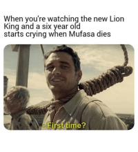 You got a storm a coming kid.: When you're watching the new Lion  King and a six year old  starts crying when Mufasa dies  Hirst time You got a storm a coming kid.