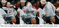 """Memes, Http, and President: When you're watching the new president, but suffocation seems like the better option <p>George W. at the inauguration. via /r/memes <a href=""""http://ift.tt/2jPXFJK"""">http://ift.tt/2jPXFJK</a></p>"""