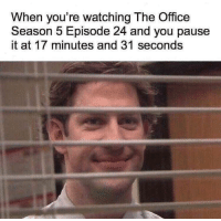 Meme, Memes, and The Office: When you're watching The Office  Season 5 Episode 24 and you pause  it at 17 minutes and 31 seconds *insert office meme here* via /r/memes http://bit.ly/2FT0TaT