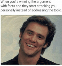 """Facts, Memes, and Rest: When you're winning the argument  with facts and they start attacking you  personally instead of addressing the topic. <p>I rest my case then via /r/memes <a href=""""https://ift.tt/2mwwNhH"""">https://ift.tt/2mwwNhH</a></p>"""