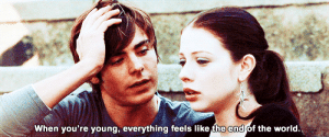 https://iglovequotes.net/: When you're young, everything feels like the end of the world. https://iglovequotes.net/