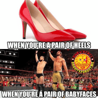 Who knew pro wrestling could be so fashionable. sethrollins finnbalor wrestling prowrestling professionalwrestling meme wrestlingmemes wwememes wwe nxt raw mondaynightraw sdlive smackdownlive tna impactwrestling totalnonstopaction impactonpop boundforglory bfg xdivision njpw newjapanprowrestling roh ringofhonor luchaunderground pwg: WHEN  YOUREAPAIROFHEELS  WHEN YOURE A PAIROF BABYFACES Who knew pro wrestling could be so fashionable. sethrollins finnbalor wrestling prowrestling professionalwrestling meme wrestlingmemes wwememes wwe nxt raw mondaynightraw sdlive smackdownlive tna impactwrestling totalnonstopaction impactonpop boundforglory bfg xdivision njpw newjapanprowrestling roh ringofhonor luchaunderground pwg