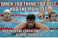 Coach, Set, and You: WHEN YOUTHINK YOUJUST  HAD THE  BUT THEN THE COACH GIVES YOU THE  ACTUAL MAIN SET hahaha