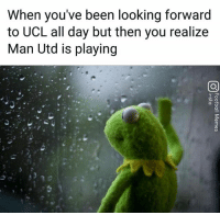 """Memes, Paint, and Watch: When you've been looking forward  to UCL all day but then you realize  Man Utd is playing """"I rather watch paint dry"""" 😥"""