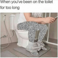 Memes, Been, and 🤖: When you've been on the toilet  for too long This happens to me everyday. Why am I like this!? 😫