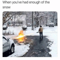 Memes, Fuck, and Snow: When you've had enough of the  snow Time to fuck off 🔥 Follow @thepettybitch @thepettybitch @thepettybitch @thepettybitch