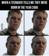 9gag, Dank, and 🤖: WHENATEENAGER TELLS METHEY WERE  BORN IN THE YEAR2000 *cries in senior citizen* http://9gag.com/gag/a6Mbb6A?ref=fbpic