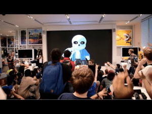 whencartoonsruletheworld: rneowth: please look at the reaction to sans at the nintendo store in new york, it's so fucking fantastic a collection of Moods™ : whencartoonsruletheworld: rneowth: please look at the reaction to sans at the nintendo store in new york, it's so fucking fantastic a collection of Moods™