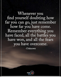Memes, All The, and 🤖: Whenever you  find yourself doubting how  tar you can go, ust remember  ow far you have come  Remember everything you  have faced, all the battles you  have won, and all the fears  ou have overcome  Unknown  y  .  POSITNE Type YES if you agree. Whenever you find yourself doubting how far you can go, just remember how far you have come. Remember everything you have faced, all the battles you have won, and all the fears you have overcome. - Unknown positiveenergyplus