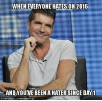 memes You're late to the party: WHENEVERYONE HATES ON 2016  C CHRIS PRZELLOINYISION AP memes You're late to the party