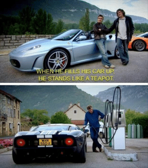 Top Gear, Car, and Top: WHENHE UP  HE STANDS LIKE ATEAPOT  FILLS HIS CAF  MAN These little things made Top Gear the greatest car show ever
