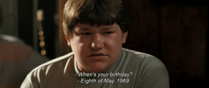 Happy 50th birthday to this lad: When's your birthday?  Eighth of May, 1969 Happy 50th birthday to this lad