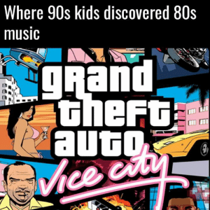 Best GTA soundtrack to date? https://t.co/5BlAViQFnr: Where 90s kids discovered 80s  music  gRand  theFt  auto  பத  Vhce cuty Best GTA soundtrack to date? https://t.co/5BlAViQFnr