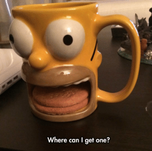 novelty-gift-ideas:    Homer Simpson Donut Holder Mug    : Where can I get one? novelty-gift-ideas:    Homer Simpson Donut Holder Mug