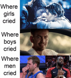 Dwyane Wade, Girls, and Nba: Where  girls  cried  Where  boys  cried  Where  men  cried  ONBAMEMES Dwyane Wade achieves incredible feat in final NBA game: bit.ly/DwyaneWadeRecord