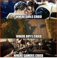 Girls, Memes, and Ps4: WHERE GIRLS' CRIED  WHERE BOYSCRIED  WHERE GAMERS CRIED  ENEWS+ Soap!!! 😭🎮 callofduty modernwarfare3 soapmactavish rip titanic fastandfurious gamer gamerguy gamergirl otaku ps4 xboxone pc memes memesdaily