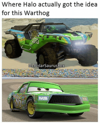 I thought they looked similar.. Follow me for more! (@PolarSaurusRex): Where Halo actually got the idea  for this Warthog  IG8PolarSaurusRex  httB I thought they looked similar.. Follow me for more! (@PolarSaurusRex)