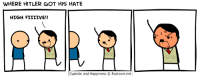 its fun-REVEL DARK: WHERE HITLER GOT HIS HATE  HIGH FIILIVE!!  Cyanide and Happiness O Explosm.net its fun-REVEL DARK