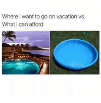 Summer, Pool, and Vacation: Where I want to go on vacation vs.  What I can afford  bi Me eating a Greek salad in a kiddie pool: mykonos is litttttt this summer @mybestiesays