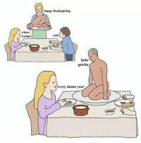 Memes, Thanksgiving, and Happy: where  is papa  happy thanksgiving  yum  hehe  gotcha  every damn year Not sure what's happening here... | follow me @lei.ying.lo for more.