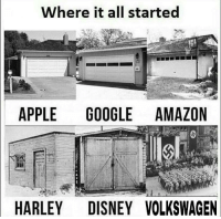 Amazon, Apple, and Google: Where it all started  APPLE GOOGLE AMAZON  HARLEY DISNEYVOLKSWAGEN Where it all started