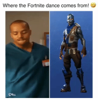 It came from Chris Turk on Scrubs. Lol: Where the Fortnite dance comes from!  SreuL It came from Chris Turk on Scrubs. Lol