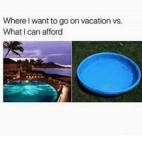 Mm: Where want to go on vacation vs.  What can afford Mm