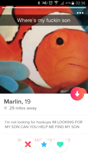 Help, Looking, and Can: Where's my fuckin son  Marlin, 19  9 29 miles awav  I'm not looking for hookups IM LOOKING FOR  MY SON CAN YOU HELP ME FIND MY SON  Sh  LE Oh, Marlin.