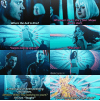 part 78 shatteredworldsau — THIS IS THE MOST BORING PART I WILL EVER POST, I promise. Pls don't hate me this is just needed lmao — QUESTION TIME: WHAT CHARACTERS DO U WANNA SEE MORE OF AND ALSO WHOS READY FOR BADASS KIRA?: Wherever she she's fine. Shows  got to start.  Where the hell is Kira?  flips hair  *begins taking wig off  @alecspac.k  UBI hear you've been pedaling  munda nes  Demona Why? You looking to score?  I'm not. *laughs*  kills demon with seraph blade part 78 shatteredworldsau — THIS IS THE MOST BORING PART I WILL EVER POST, I promise. Pls don't hate me this is just needed lmao — QUESTION TIME: WHAT CHARACTERS DO U WANNA SEE MORE OF AND ALSO WHOS READY FOR BADASS KIRA?