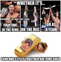 These 2 together never disappoint 🙌. wwe wwememe wwememes johncena hustleloyaltyrespect nevergiveup youcantseeme ajstyles phenomenalone wwechampion kevinowens fightowensfight rusev wrestler wrestling wrestlemania prowrestling professionalwrestling worldwrestlingentertainment wweuniverse wwenetwork wwesuperstars raw wweraw mondaynightraw smackdown smackdownlive sdlive nxt battleground: WHETHER IT'S  @HE.WHO.LIKES SASHA  FIGHTING  IN THE RING ON THE MICATEAM  OR AS  CENAANDSTYLESTOGETHERARE PURE GOLD These 2 together never disappoint 🙌. wwe wwememe wwememes johncena hustleloyaltyrespect nevergiveup youcantseeme ajstyles phenomenalone wwechampion kevinowens fightowensfight rusev wrestler wrestling wrestlemania prowrestling professionalwrestling worldwrestlingentertainment wweuniverse wwenetwork wwesuperstars raw wweraw mondaynightraw smackdown smackdownlive sdlive nxt battleground