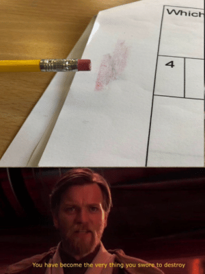 Thing, You, and Destroy: Whic  4  You have become the very thing you swore to destroy