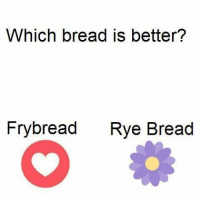 Which bread is better?  Fry bread  Rye Bread