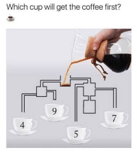 Memes, Coffee, and Science: Which cup will get the coffee first?  4  5 Learn something @science