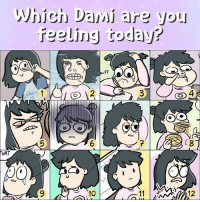 When you're feeling like a 7 and it's only Tuesday 😩 How's your week coming along? . . Follow @dami_lee on Instagram! . . linewebtoon webtoon comics tfw mood: Which Dami are you  feeling today?  2  4  6  HAT  10 When you're feeling like a 7 and it's only Tuesday 😩 How's your week coming along? . . Follow @dami_lee on Instagram! . . linewebtoon webtoon comics tfw mood