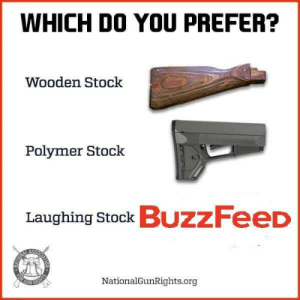 Preferably: WHICH DO YOU PREFER?  Wooden Stock  Polymer Stock  Laughing Stock BuzzFeeD  NationalGunRights.org