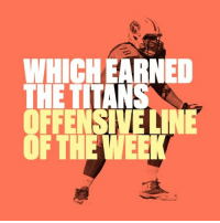Sports, Tennessee, and Visa: WHICH EARNED  THE TI  OFT  VisA Tennessee ran all over Green Bay and their offensive line takes home this week's honors