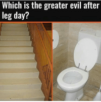 Comment 👇 legday squats gymmemes gym: Which is the greater evil after  leg day? Comment 👇 legday squats gymmemes gym