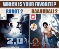 Heavyweights, Indianpeoplefacebook, and Akshay Kumar: WHICH IS YOUR FAVORITE?  ROBOT 2 BAAHUBALI 2  RAJINIKANTH  AKSHAY KUMAR  WORLD  NOT  ONLY FOR  HUMANS  bababali  An RAHMAN  aughing colours.com Battle Of Two Heavyweights.. ;)