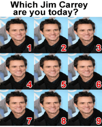 Which Jim Carrey  are you today?  2  3  4  5  6  0  7  8  9