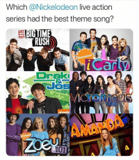 Idc what y'all say drake and josh and Nickelodeon was the best shows ever , and wtf is Amanda lmaooo: Which @Nickelodeon live action  series had the best theme song?  TIME  RUSH  NICKE  LODEON  Draki  niokela  101 Idc what y'all say drake and josh and Nickelodeon was the best shows ever , and wtf is Amanda lmaooo