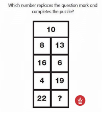 Tag A Friend A Comment Below When You've Figured It Out! 🤓✍️ WSHHGames: Which number replaces the question mark and  completes the puzzle?  10  8 133  16  6  4 19  22 Tag A Friend A Comment Below When You've Figured It Out! 🤓✍️ WSHHGames
