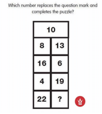 Go!🤓🤓 FOLLOW US➡️ @so.mexican Via: @worldstar: Which number replaces the question mark and  completes the puzzle?  10  13  16  6  4 19  22 Go!🤓🤓 FOLLOW US➡️ @so.mexican Via: @worldstar