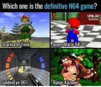 Memes, Super Mario, and Mario: Which one is the definitive N64 game?  UNILAD  GAMING  Ocarina of Time  Super Mario 64  GoldenEye 001  Banjo Kazooie 20 years on...