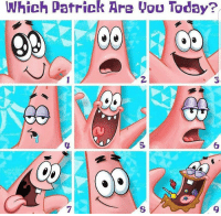 Which one are you today?: Which Patrick Are you Today? Which one are you today?