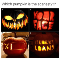 Loans, Pumpkin, and The: Which pumpkin is the scariest???  1%  2  LOANS