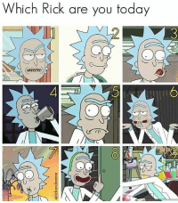 Memes, Today, and 🤖: Which Rick are you today  ch hick are yoU fodaY 9 follow @rickmortymemes (me) for more! 😔