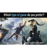 Ass, Bruh, and Dope: Which type of game do you prefer?  Story driven Minear  Open World/exploration Go check out @yt.cougarr ❤️ FOLLOW MY BACKUP FOR MORE MEMES! ❤️🔥 @GAMINGSPACE Credit: DM •=•=•=•=•=•=•=•=•=•=•=•=•=•=•=•=• Cool ass partners 💯 @gamersbanter @c0medyofc0d @humorforgames @fullcodpage @bolt4tw @scufgod @gaming.pod @gaming.sp0t @fuck_your_clan_bruh @hdpubz •=•=•=•=•=•=•=•=•=•=•=•=•=•=•=•=• Sponsorships 💸 Use code CASHEW on all sponsors for a discount on all their dope products 💦 •=•=•=•=•=•=•=•=•=•=•=•=•=•=•=•=• Hashtags (ignore) 🎮 videogames games gamer TagsForLikes gaming instagaming instagamer playinggames online photooftheday onlinegaming videogameaddict instagame instagood gamestagram gamerguy gamergirl gamin video game igaddict winning play playing