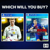 anakfifa atau anakpes ?? Tentukan pilihanmu :D From @sandi.rm dagelangaming gaming games gamers pes fifa: WHICH WILL YOU BUY?  RONALDO EDITION  PREMIUM EDITION: EXCLUSIVE CONTENT INSIDE  Dakuten  ZA  SPORTS  2018  RES  B R  PES  PRO EVOLUTION SOCCER  18  aies  FIFA  KONAM  www.pegieto anakfifa atau anakpes ?? Tentukan pilihanmu :D From @sandi.rm dagelangaming gaming games gamers pes fifa