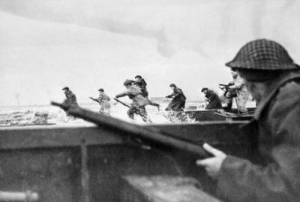 Soldiers, Canada, and Today: While Trump insinuates that Canada is a risk to US national security I raise this photo of Canadian Soldiers storming the beaches of Normandy along side us 74 years ago today